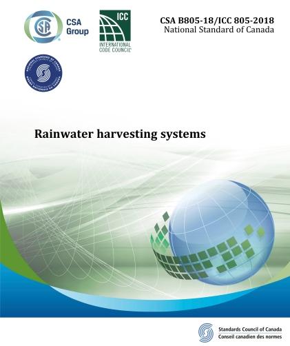 CSA Rainwater Harvesting Standards Cover