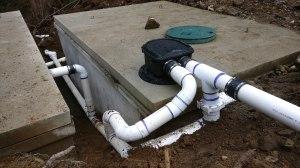 Pre-filter for 8000 gallon concrete potable water system